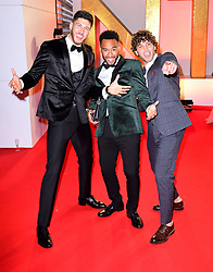 Jack Fowler, Josh Denzel and Eyal Booker attending the National Television Awards 2019 held at the O2 Arena, London. PRESS ASSOCIATION PHOTO. Picture date: Tuesday January 22, 2019. See PA story SHOWBIZ NTAs. Photo credit should read: Ian West/PA Wire