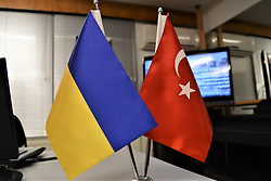 November 21, 2018 - Ankara, Turkey - Ukrainian and Turkish national flags are seen together during a celebration marking the Day of Dignity and Freedom in Ankara, Turkey on November 21, 2018. (Credit Image: © Altan Gocher/NurPhoto via ZUMA Press)