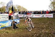 Friday 1 November 2013: Sanne Cant in action during the Koppenbergcross 2013 women's race. Copyright 2013 Peter Horrell
