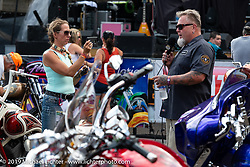 Perewitz Paint Show at the Iron Horse Saloon during the Sturgis Black Hills Motorcycle Rally. SD, USA. Wednesday, August 7, 2019. Photography ©2019 Michael Lichter.