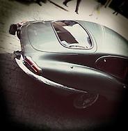 E type Jaguar Sports Car