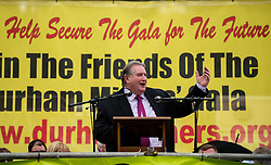 Paul Kenny, GMB General Secretary, speaking at the 130th Durham Miners' Gala. 2014