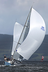 Peelport Clydeport, Largs Regatta Week 2014 Largs Sailing Club based at  Largs Yacht Haven with support from the Scottish Sailing Institute & Cumbrae.<br /> <br /> GBR7737R, Aurora, Rod Stuart / A Ram, CCC, Corby 37