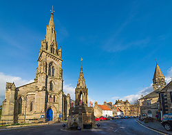 View of village square at Falkland in Fife, Scotland , UK