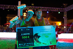 Florian Schnetzer and Michael Murauer on second place at Beach Volleyball Challenge Ljubljana 2014, on August 2, 2014 in Kongresni trg, Ljubljana, Slovenia. Photo by Matic Klansek Velej / Sportida.com