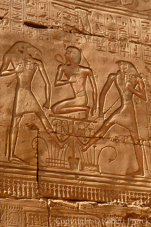 EGYPT, THEBES, KARNAK Ramses II joins Upper and Lower Egypt