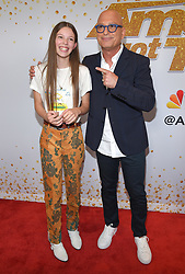 August 14, 2018 - Hollywood, California, U.S. - Courtney Hadwin and Howie Mandel arrives for the 'America's Got Talent' Live Show Screening and Red Carpet at the Dolby Theatre. (Credit Image: © Lisa O'Connor via ZUMA Wire)