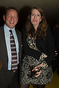 ED VAIZEY; KATHRYN BALLS, Launch of ' More Human',  Designing a World Where People Come First' by Steve Hilton. Party held at Second Home in Princelet St, off Brick Lane, London. 19 May 2015.