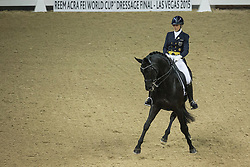 Stegars Terhi, (FIN), Axis TSF<br /> Longines FEI World Cup™ Dressage Final I<br /> Las Vegas 2015<br />  © Hippo Foto - Dirk Caremans<br /> 16/04/15