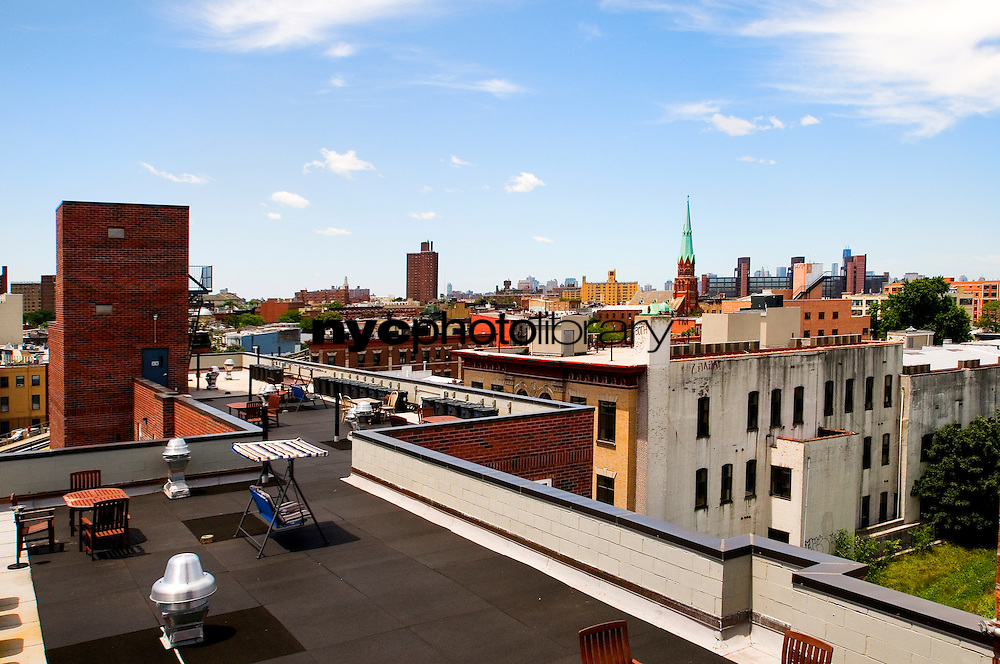 Roof Deck at 960 Willoughby Avenue
