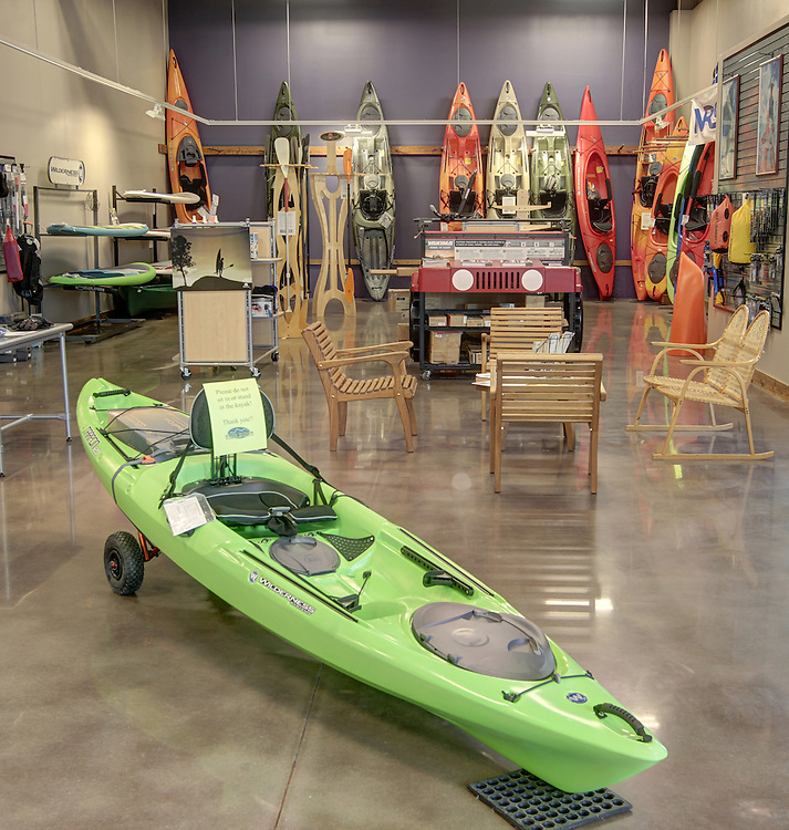 Blue Ridge Outdoors adventure store located in the Shops at Stonefield in Charlottesville, VA. Photo/Andrew Shurtleff