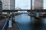Tokyo Shibaura district with the monorail line