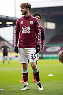 Burnley midfielder Anthony Gomez Mancini (35) warming up before the FA Cup match between Burnley and Milton Keynes Dons at Turf Moor, Burnley, England on 9 January 2021.