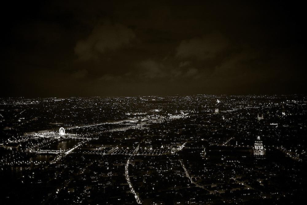 General view of Paris as seen from atop the Eiffel Tower. Paris, France. November 24, 2013. Photograph ©2013 Darren Carroll