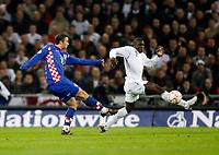 Photo: Richard Lane/Sportsbeat Images.<br />England v Croatia. UEFA European Championships Qualifying. 21/11/2007. <br />Croatia's Niko Kranjcar scores their first goal.