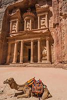 Al Khazneh or The Treasury in Nabatean Petra Jordan middle east