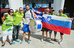Supporters of Slovenia prior to the basketball match between Slovenia vs Greece at Day 5 in Group C of FIBA Europe Eurobasket 2015, on September 9, 2015, in Arena Zagreb, Croatia. Photo by Vid Ponikvar / Sportida