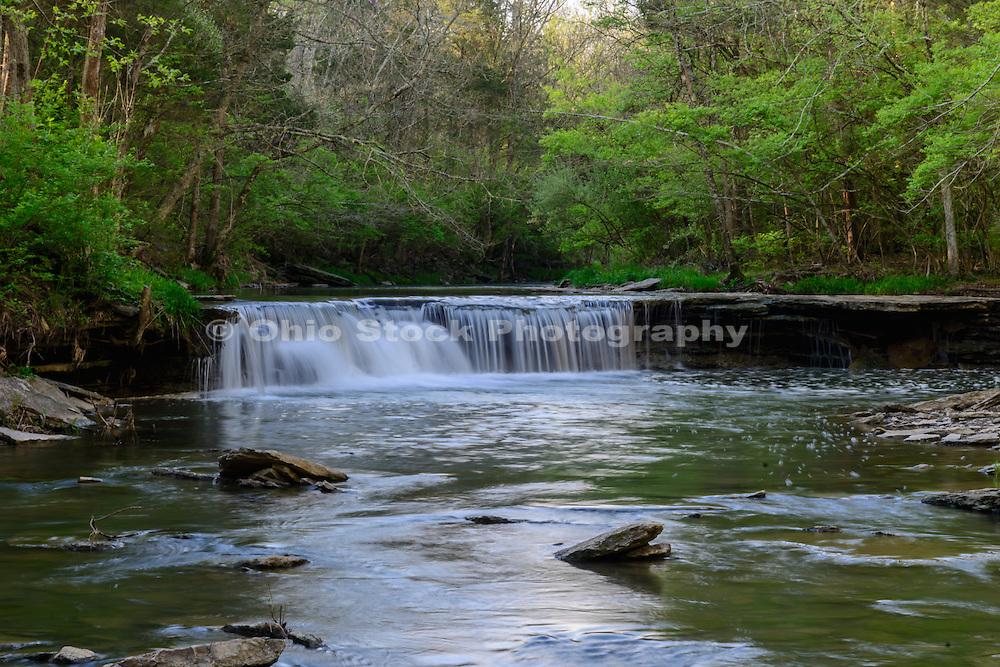 Photo of Horseshoe Falls in Caesar Creek State Park, near Waynesville, Ohio, in Warren County.