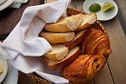 Bread and croissants for breakfast at the Apsara Rive Droite guest house in Luang Prabang, Laos