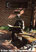 News reader, sculpture, Steinman Park, Lancaster, PA