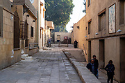 An alleyway and stairs, Kom Ghorab, Old Cairo, Egypot.