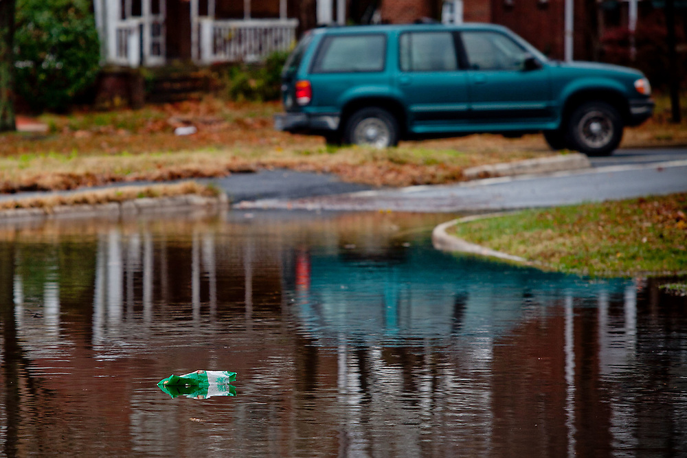Arlington, Va., Dec. 1, 2010 - Flooding closes the ramp from 50 to Washington Blvd. (Photo by Jay Westcott/TBD)