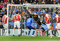 Football - 2018 / 2019 Premier League - Leicester City vs. Arsenal<br /> <br /> Arsenal goalkeeper, Bernd Leno makes a finger tip save in the first half, at King Power Stadium.<br /> <br /> COLORSPORT/ANDREW COWIE
