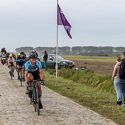 Philippine (NED) CYCLING OCTBER 17<br /> Omloop van de Braakman<br /> Jarno Mobach op de kassieen