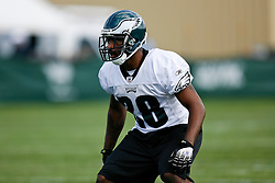 Philadelphia Eagles safety Byron Parker #28 during the Philadelphia Eagles NFL training camp in Bethlehem, Pennsylvania at Lehigh University on Saturday August 1st 2009. (Photo by Brian Garfinkel)