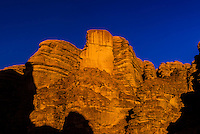 Rock formations, Arabian Desert, Wadi Rum, Jordan.