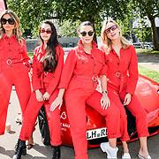 Amy Jackson, Zara Martin, Carmen Jorda attend Cash & Rocket Photocall at Wellington Arch, on 6 June 2019, London, UK