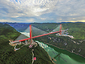Aerial view of Stunning New bridge China