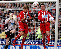 Fotball<br /> Championship England 2004/05<br /> Sheffield United v Plymouth<br /> 23. oktober 2004<br /> Foto: Digitalsport<br /> NORWAY ONLY<br /> PHIL JAGIELKA, MICHAEL TONGE  SHEFFIELD UNITED
