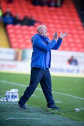 Morton's manager Jim Duffy. Dundee United 1 v 1 Morton, Scottish Championship game played 25/2/2017 at Tannadice Park.