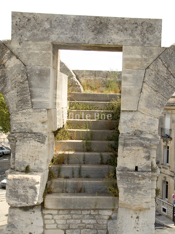 corridor with arch and stairs Arles