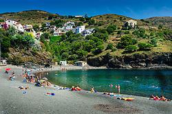 The beach and Mediterranean Sea at Portbou, Spain<br /> <br /> (c) Andrew Wilson   Edinburgh Elite media