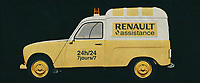 The 1970 Renault 4 F4 is the typical French van that every European knows. With its infinite possibilities, the 1970 Renault 4 F4 has served small and large companies. Here is an assistance van of Renault pictured. But also the baker and milkman used this Renault.<br /> <br /> This painting of a Renault 4 F4 from 1970 can be printed very large on different materials. The work has a panoramic ratio and is very suitable to add a detail in a workspace, showroom or just at home that will impress your visitors. –<br /> <br /> BUY THIS PRINT AT<br /> <br /> FINE ART AMERICA<br /> ENGLISH<br /> https://janke.pixels.com/featured/the-1970-renault-4-f4-the-small-renault-van-with-infinite-possib-jan-keteleer.html<br /> <br /> WADM / OH MY PRINTS<br /> DUTCH / FRENCH / GERMAN<br /> https://www.werkaandemuur.nl/nl/shopwerk/Renault-4-F4-1970/606141/132<br /> <br /> -