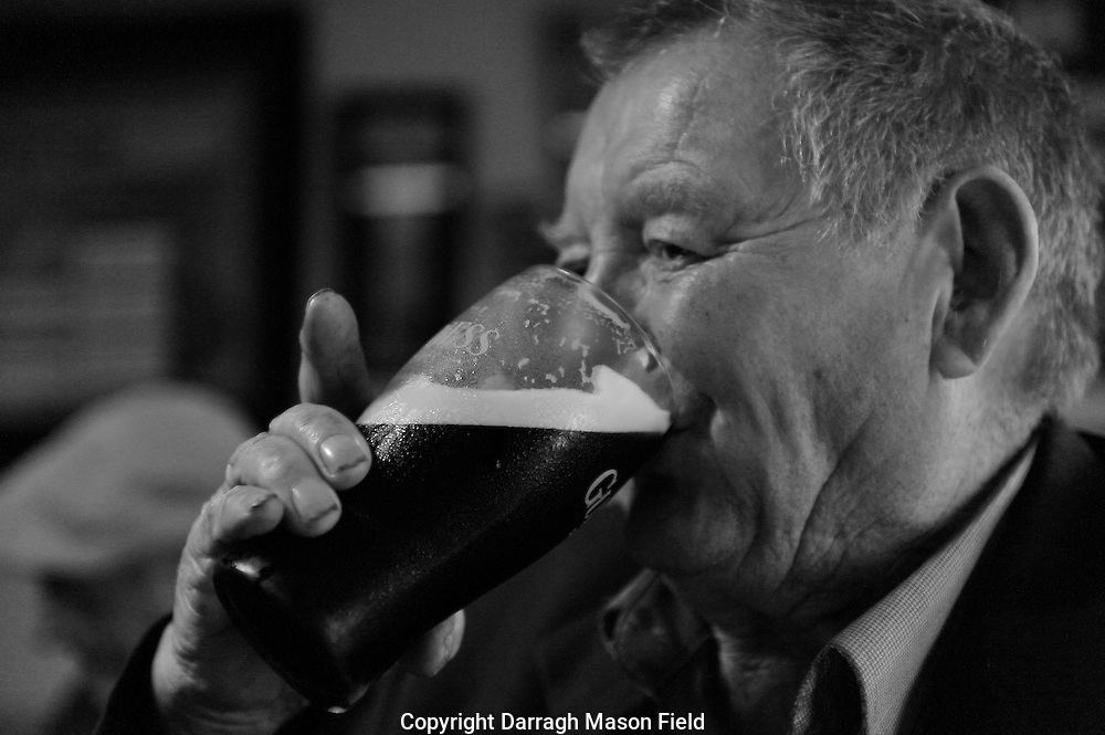 A collection of photos from six weeks I spent meeting with bachelor farmers on their pension day in Guriys pub, Foxford, Co Mayo Ireland.