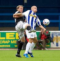 Photo. Daniel Hambury.<br /> Colchester United v Chelsea XI. Pre Season Friendly.<br /> 30/07/2005.                              <br /> Chelsea's Steven Watt defends against Colchester's Jamie Guy.