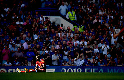 Liverpool's Sadio Mane appears dejected during the Premier League match at Stamford Bridge, London.