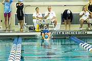 Jamie Lee competes in the 100 Yard Backstroke in the 2016 NYSPHSAA Swimming and Diving Championships held at Ithaca College on Saturday.