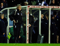 Photo: Glyn Thomas.<br />Birmingham City v Blackburn Rovers. The Barclays Premiership. 19/04/2006.<br /> Birmingham's manager Steve Bruce breathes a sigh of relief as his team wins 2-1.