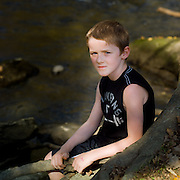Pensive portrait by the river.  10/2011