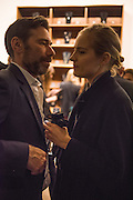 "MAT COLLISHAW; POLLY MORGAN, The launch of Rachel Howard's ""Humble Hanger"" -  a limited edition jewellery collaboration with True Rocks.. BlainSouthern, Hanover Sq. London. 18 November 2015"
