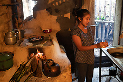 """Lourdes López Vásquez, 16.<br /> <br /> """"The family was evacuated at midnight, that was during hurricane Eta. We heard thundering noises coming from underground, from inside the mountain"""" said Lourdes, """"We were all evacuated, it was dark, we all felt sad"""". Lourdes' family is one of 60 families affected by the landslide in the village of El Zapote, San Luis Planes, Santa Bárbara. That night six houses were destroyed by a landslide there and another 55 were made unsafe by subsidence, and have now been declared uninhabitable. The region of Santa Bárbara, with steep mountain slopes that are ideal for coffee growing, is particularly prone to landslides. Fairtrade-certified cooperative Montaña Verde is based in San Luis Planes and coop members are all affected by climate change, hurricanes and landslides. Serious problems with access to farms, loss of land, loss of topsoil, washed-out nutrients, the early fall of unripe cherries, leaf drop, root rot, and a proliferation of fungal diseases all affect the producers, as well as the loss of their corn and bean crops that they rely on as their staple food."""
