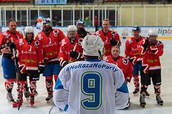 Players at Poslovilna tekma Tomaza Razingarja, on July 16, 2016 in Ledna dvorana, Bled, Slovenia. Photo by Gregor Podrekar / Sportida