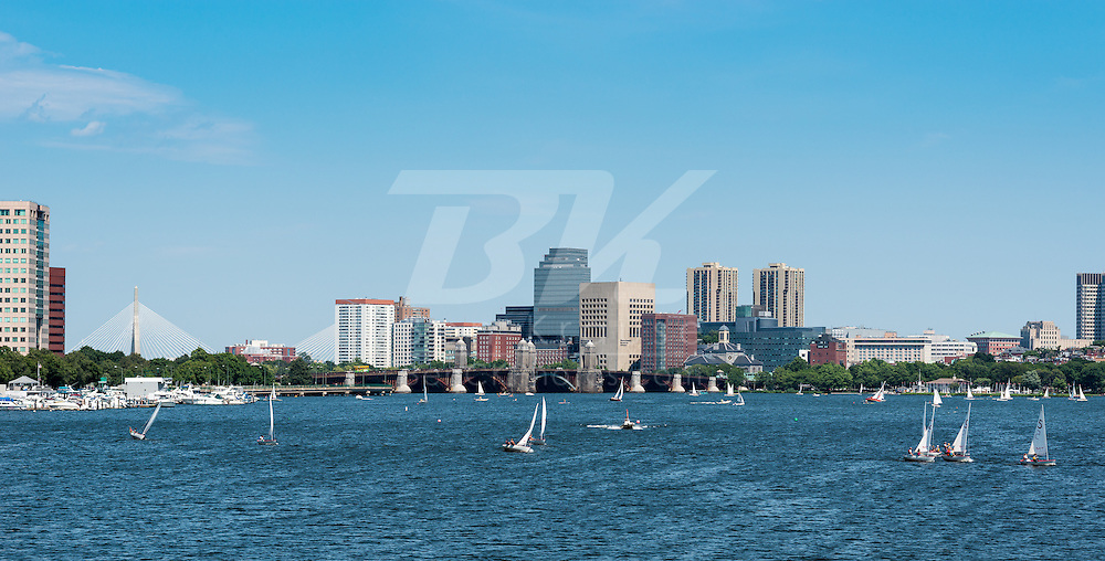 A view of downtown Boston from the Massachussetts Avenue Bridge.