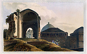 Ruins Of The Palace, Madura From the book ' Oriental scenery: one hundred and fifty views of the architecture, antiquities and landscape scenery of Hindoostan ' by Thomas Daniell, and William Daniell, Published in London by the Authors July 1, 1812