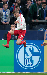 March 16, 2019 - Gelsenkirchen, Germany - Leipzig's German forward Timo Werner seen celebrating after scoring the 0-1 during the German Bundesliga soccer match between FC Schalke 04 and RB Leipzig in Gelsenkirchen. (Credit Image: © Osama Faisal/SOPA Images via ZUMA Wire)