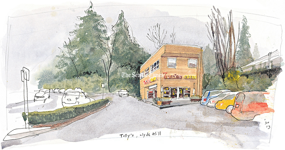 One of the first Tully's locations is on the Eastside in Clyde Hill. <br /> <br /> Gabriel Campanario / The Seattle Times
